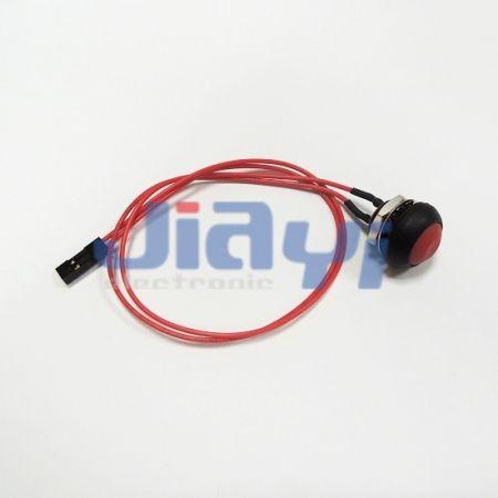 Chicote elétrico do interruptor do botão de pressão - Chicote elétrico do interruptor do botão de pressão