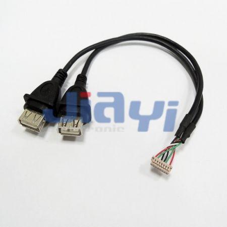 Кабель с гнездом USB 2.0 типа A в сборе