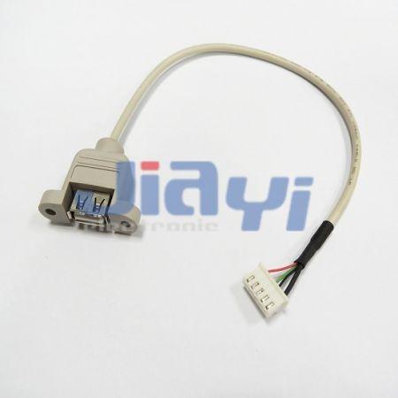 Assemblage de câble USB à montage sur panneau - Assemblage de câble USB à montage sur panneau