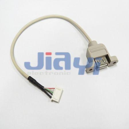 USB-Kabelbaugruppe für Schalttafeleinbau
