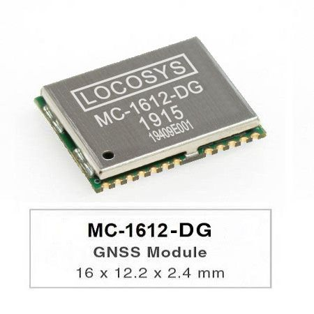 El módulo LOCOSYS MC-1612-DG Dead Reckoning (DR) es la solución perfecta para aplicaciones automotrices.