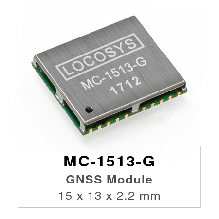 LOCOSYS MC-1513-G ist ein komplettes eigenständiges GNSS-Modul.