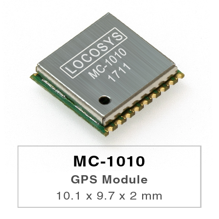 LOCOSYS GPS MC-1010 module features high sensitivity, low power and ultra small form factor.
