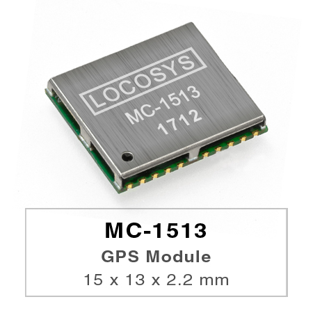 LOCOSYS MC-1513 GPS module features high sensitivity, low power and ultra small form factor.