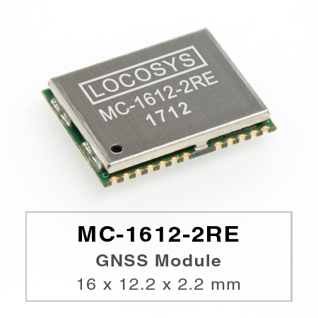 LOCOSYS GPS MC-1612-2RE module features high sensitivity, low power and ultra small form factor.