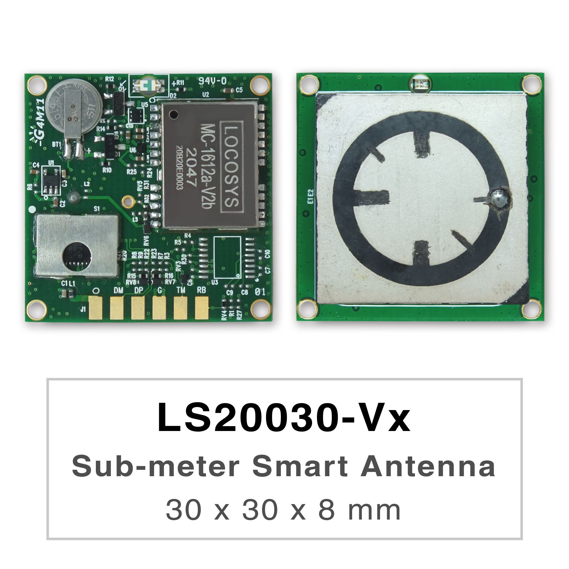 LS2003x-Vx series products are high-performance dual-band GNSS smart antenna modules, including an embedded antenna and GNSS receiver circuits, designed for a broad spectrum of OEM system applications.