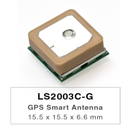 LS2003C-G is a complete standalone GNSS smart antenna module, including embedded patch antenna and GNSS receiver circuits.