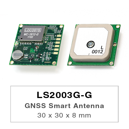 LS2003G-G series products are complete standalone GNSS smart antenna modules, including an embedded antenna and GNSS receiver circuits, designed for a broad spectrum of OEM system applications.