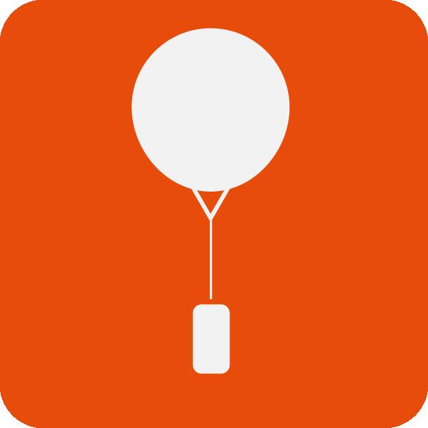 Application particulière comme le ballon météo, dit Radiosonde.