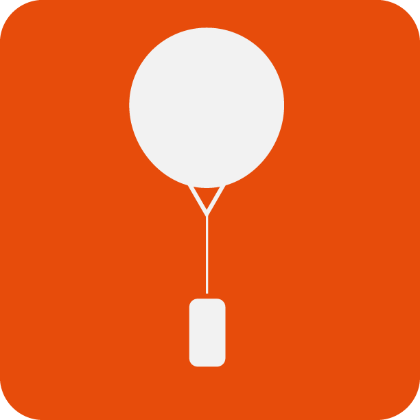 Besondere Anwendung wie der Wetterballon, bekannt als Radiosonde.