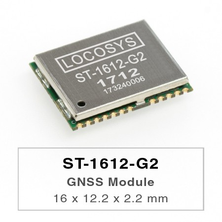 GNSS Module - The LOCOSYS ST-1612-G2 module can simultaneously acquire and track multiple satellite constellations that include GPS, GLONASS, GALILEO and QZSS.