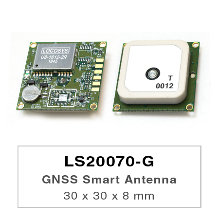 GNSS Smart Antenna Module - ls2007x-G series products  are a complete standalone GNSS smart antenna module, the module is powered by MediaTek GNSS chip and it can provide you with superior sensitivity and performance even in urban canyon and dense foliage environment.