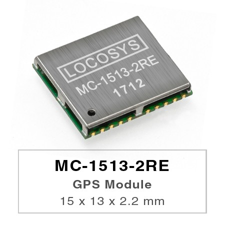 GPS Modules - LOCOSYS GPS MC-1513-2RE module features high sensitivity, low power and ultra small form factor.