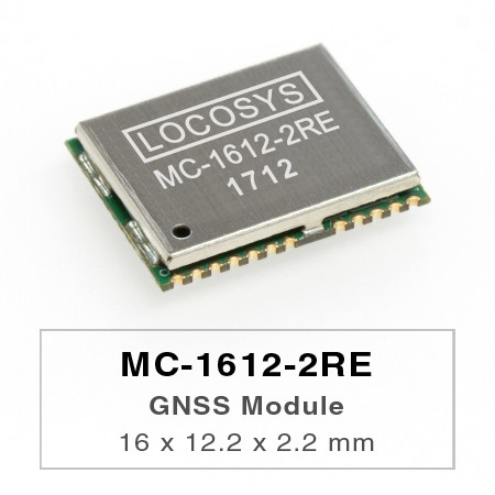 Modules GPS - Le module LOCOSYS GPS MC-1612-2RE présente une sensibilité élevée, une faible puissance et un facteur de forme ultra petit.