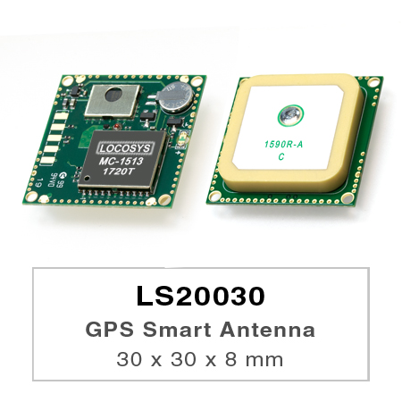 GPS Smart Antenna Module - LS20030/31/32 series products are complete GPS smart antenna receivers, including an embedded antenna and GPS receiver circuits, designed for a broad spectrum of OEM system applications.