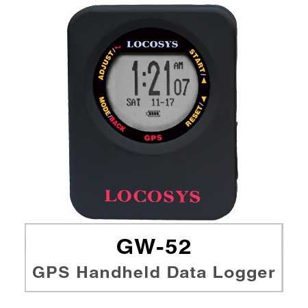 GPS Handheld Data Logger GW-52 - GW-52 is a GPS instrument optimized to measure speed using GPS-Doppler.