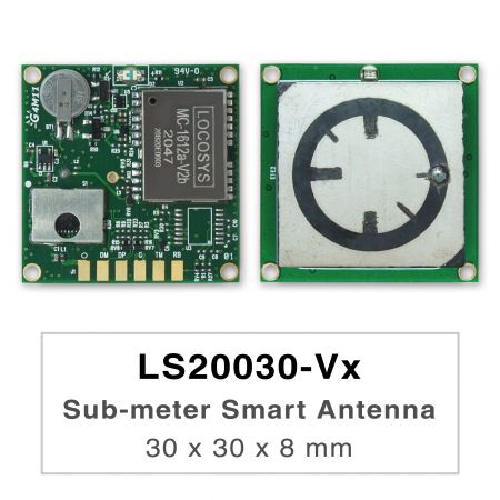 Sub-meter Smart Antenna Module - LS2003x-Vx series products are high-performance dual-band GNSS smart antenna modules, including an embedded antenna and GNSS receiver circuits, designed for a broad spectrum of OEM system applications.