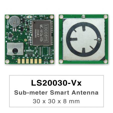 Module d'antenne intelligente sous-métrique - Les produits de la série LS2003x-Vx sont des modules d'antenne intelligente GNSS double bande hautes performances,       comprenant une antenne intégrée et des circuits récepteurs GNSS, conçus pour un large éventail d'  applications système OEM      .