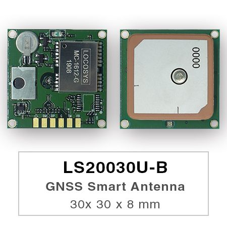 GNSS Smart Antenna Module - LS2003xU-B series products are complete standalone GNSS smart antenna modules, including an embedded antenna and GNSS receiver circuits, designed for a broad spectrum of OEM system applications.