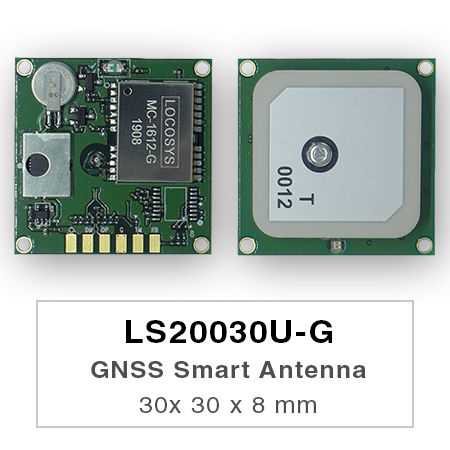 GNSS Smart Antenna Module - LS2003xU-G series products are complete standalone GNSS smart antenna modules, including an embedded antenna and GNSS receiver circuits, designed for a broad spectrum of OEM system applications.