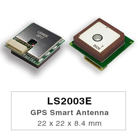 GPS Smart Antenna Module - LS2003E is a complete standalone GPS smart antenna module, including embedded patch antenna and GPS receiver circuits.