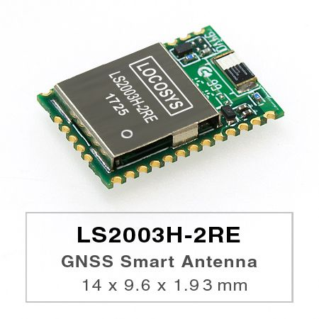 GPS Smart Antenna Module - LS2003H-2RE is a complete standalone GPS smart antenna module, the module is powered by MediaTek latest MT3337E GPS chip and it can provide you with superior sensitivity and performance even in urban canyon and dense foliage environment.