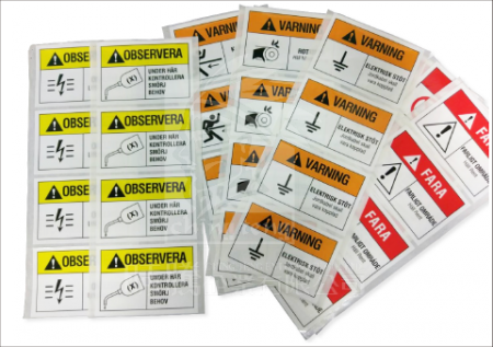 Printed Vinyl Stickers - printed stickers for chemical industry