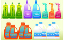 Household supplies labels