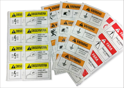 printed stickers for chemical industry