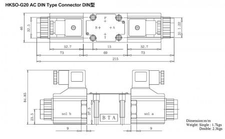 Connecteur de type DIN AC HKSO-G02