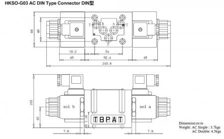 Connecteur de type DIN AC HKSO-G03