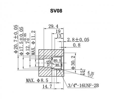 SV**-21 Cavity Details - SV08