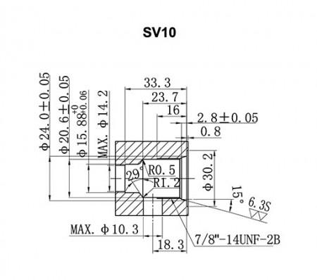 SV**-21 Cavity Details - SV10