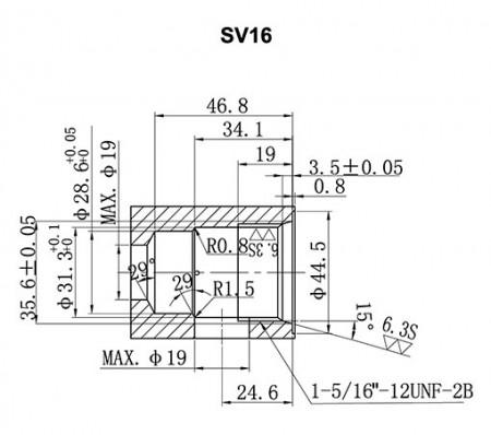 SV**-21 Cavity Details - SV16