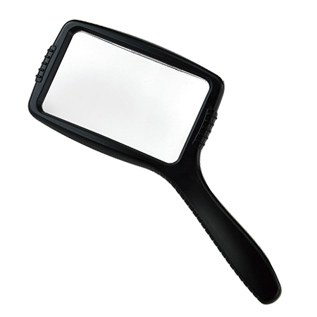 Rectangular handheld magnifier for reading
