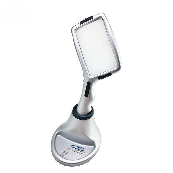 Study 3 Pieces LED Folding Pocket Magnifier Eye Loupe Magnifier LED Illuminated Magnifying Glass Card Shaped Magnifying Glass for Jewelry Reading Inspection