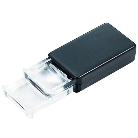 Slide pocket magnifying glass