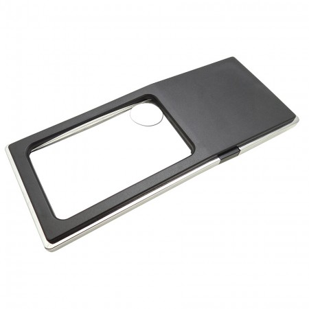 Pocket Magnifying Glass with LED Light - Rectangular Shape Pocket magnifying glass with light
