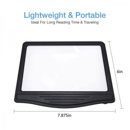 3X LED Page Reader Magnifier with 12 Dimmable Anti-Glare LED Lights-Large viewing area