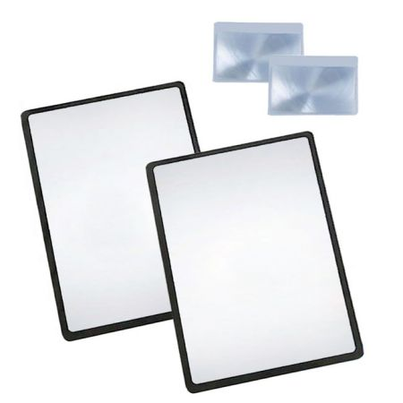 Magpro 3X PVC Lightweight Page Magnifying Sheet Fresnel Lens with 2 Bonus Card Magnifier, Magnifying Glass for Reading Small Patterns, Maps and Books - 3X PVC Lightweight Full Page Magnifying Sheet Fresnel Lens with 2 Bonus Card Magnifier, Magnifying Glass for Reading Small Patterns, Maps and Books
