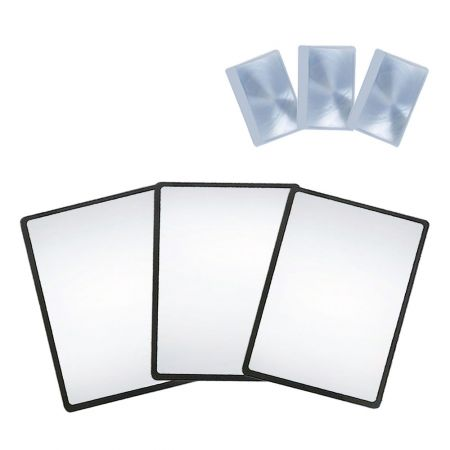 MagDepo Magnifying Sheet 3 Pack 3X PVC Lightweight Page Size with 3 Bonus Card Magnifier, Magnifying Glass for Reading Small Patterns, Maps and Books - MagDepo Magnifying Sheet 3 Pack 3X PVC Lightweight Page Size with 3 Bonus Card Magnifier, Magnifying Glass for Reading Small Patterns, Maps and Books