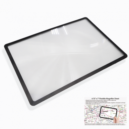 3X PVC Lightweight Page Magnifying Sheet for Reading Small Fonts - 3X PVC Lightweight Full Page Magnifying Sheet Fresnel Lens, Magnifying Glass for Reading Small Patterns, Maps and Books