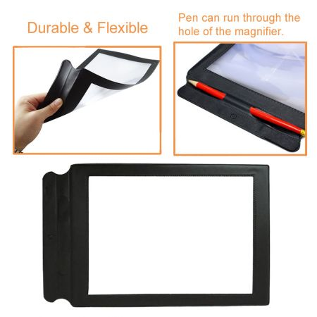 Durable & flexible A4 page magnifying sheet