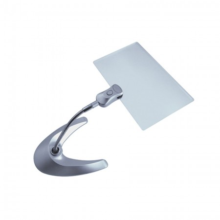 2X Rectangular Desk illuminated LED Magnifier - 2X Rectangular LED Lighted Stand Magnifier