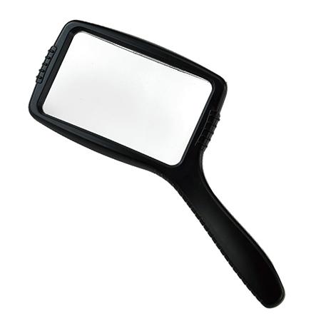 3X Large Rectangular Hand Held Magnifier - Rectangular Handheld magnifying glass for reading