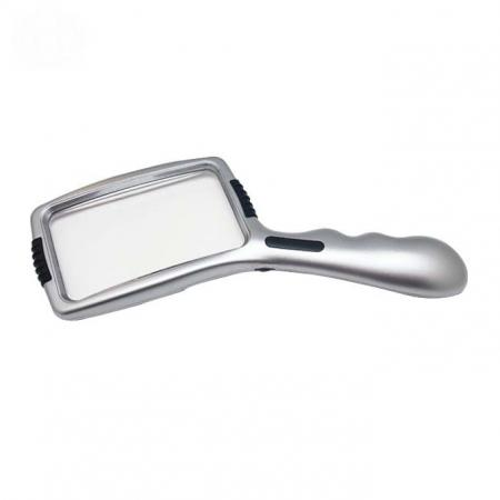 3X Magnifier Illuminated Handheld Magnifying Glass With Lamp Stand - 3X Magnifier Illuminated Handheld Magnifying