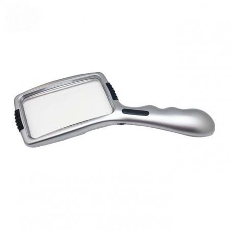 3X Magnifier Illuminated Handheld Magnifying Glass With Lamp Stand - 3X Magnifier Illuminated Handheld Magnifying
