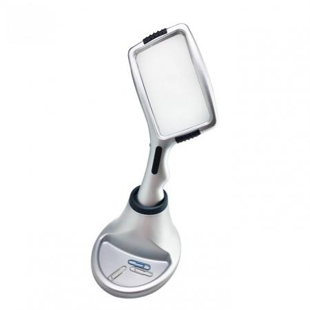 3X Magnifier Illuminated Handheld Magnifying Glass With Lamp Stand