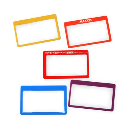3X Card Size Magnifying Sheet with Thin Frame - 3X PVC Card Magnifying Sheet