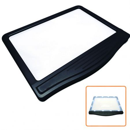 3X Rechargeable LED Page Magnifier with 12 Dimmable LEDs